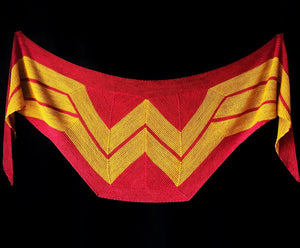 Wonder Woman Wrap by Carissa Browning - Knit