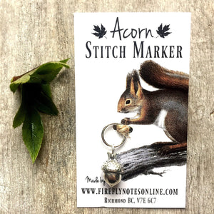 Acorn Stitch Marker by Firefly Notes