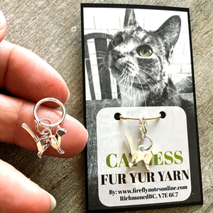 Cat Origami Stitch Marker by Firefly Notes