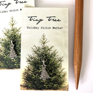 Tiny Christmas Tree Stitch Marker by Firefly Notes
