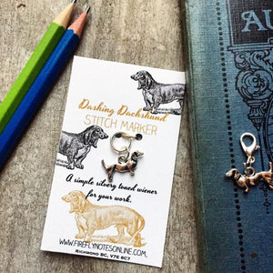 Dashing Dog Stitch Marker by Firefly Notes