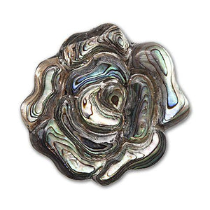 Buttons Etc. - Paua Rose Magnetic Brooch DISCONTINUED