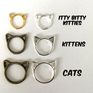 Silver Itty Bitty Kitties Stitch Markers 13pk by Firefly Notes