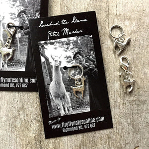 Llama Stitch Marker by Firefly Notes