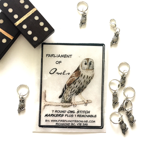 Owls Stitch Marker Packs by Firefly Notes