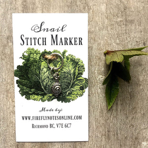 Snail Stitch Marker by Firefly Notes