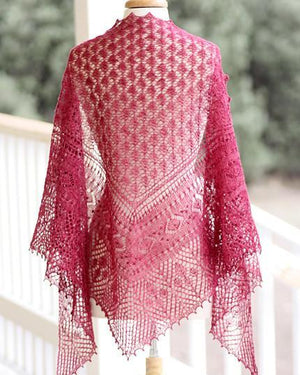 Town Square Shawl by Rosemary (Romi) Hill-Book Gift Set