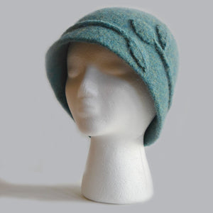 Vine Cloche Felted Hat by Cynthia Pilon Designs