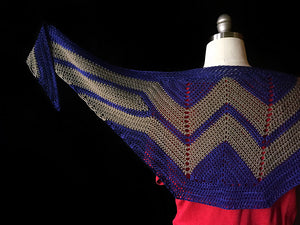Wonder Woman Wrap by Carissa Browning - Crochet