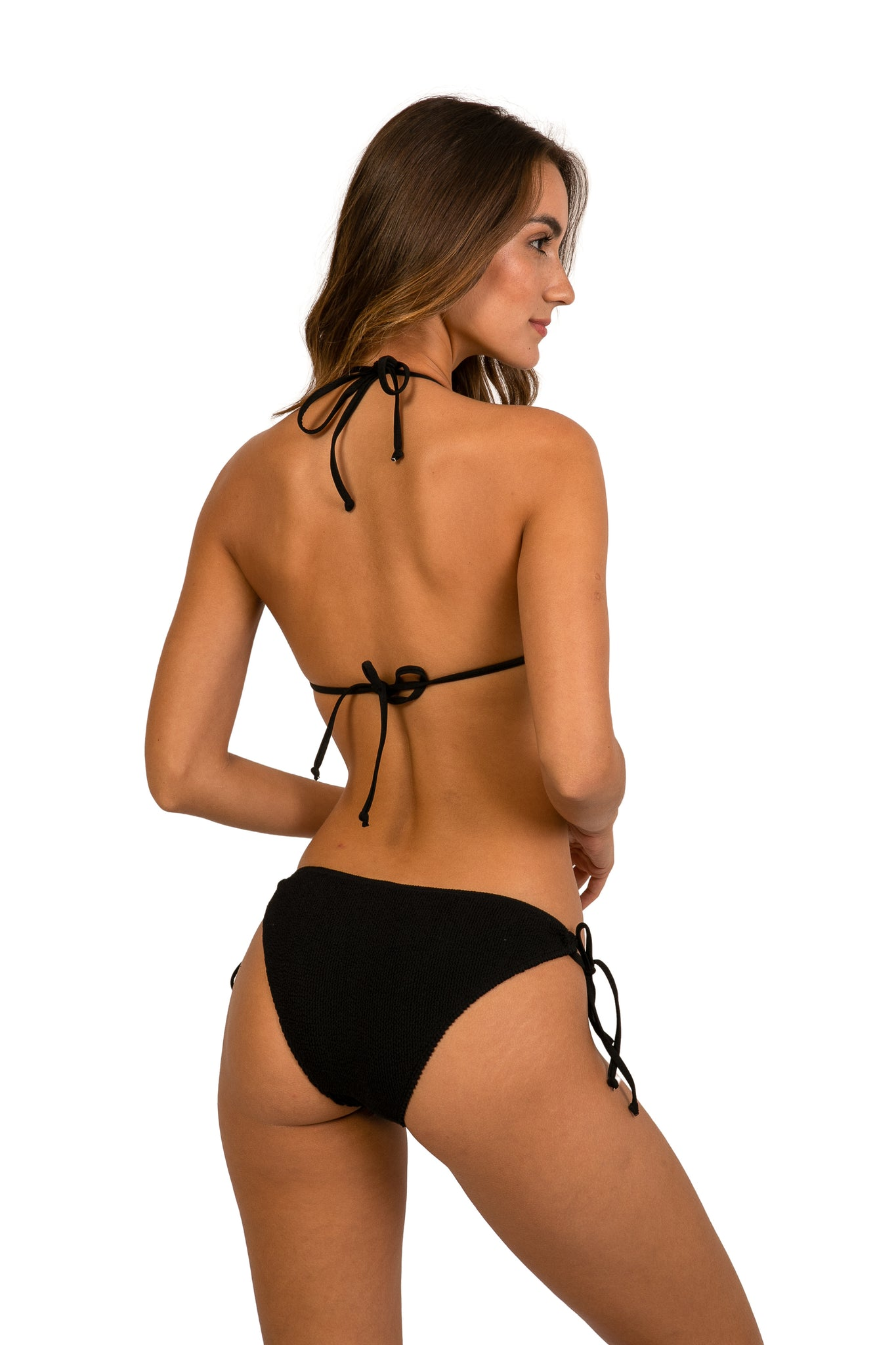 JAMAICA TRIANGLE BLACK BIKINI BOTTOM