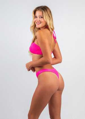Ibiza Hot Pink One Size Extra Cheeky BOTTOM ONLY