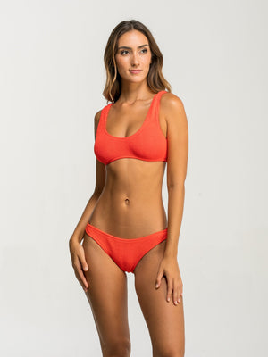 Barcelona Orange One Size Bikini Bottom Only (FULL)