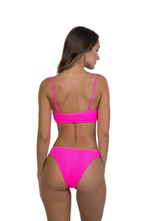 Maldives Adjustable Straps Top Neon Pink