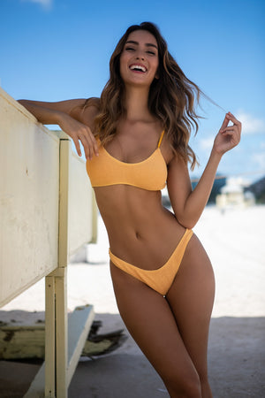 BARCELONA MUSTARD YELLOW BIKINI BOTTOM ONLY