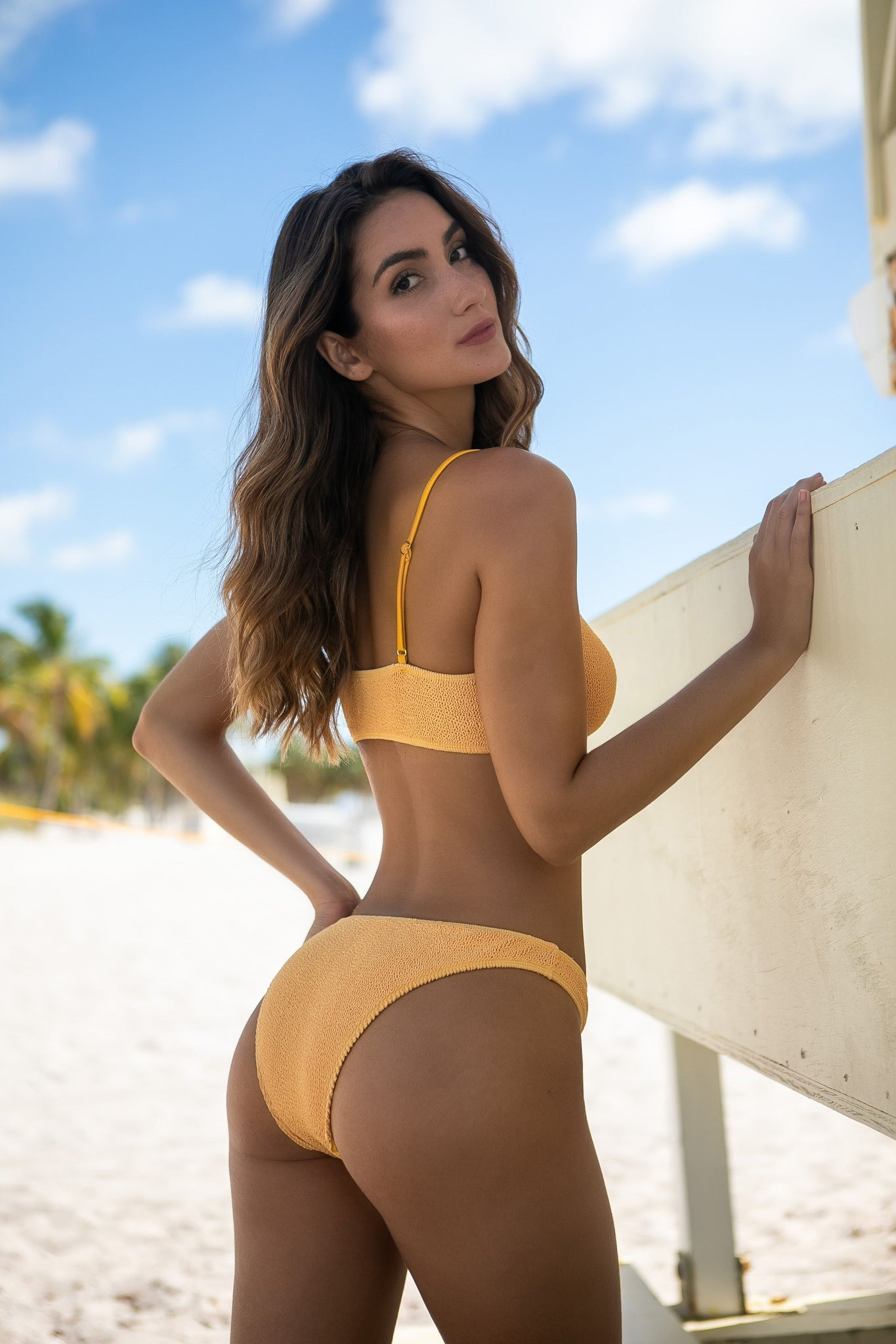 MALDIVES MUSTARD YELLOW BIKINI TOP ONLY
