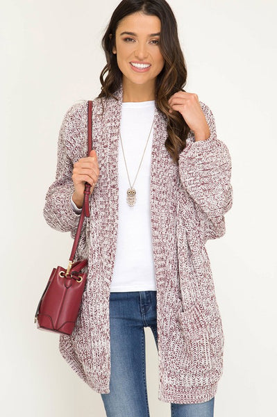 sweater cardigan with front pockets
