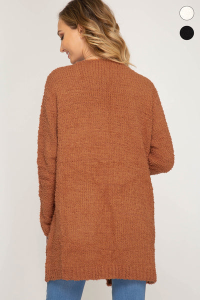 cardigan with slouchy pockets