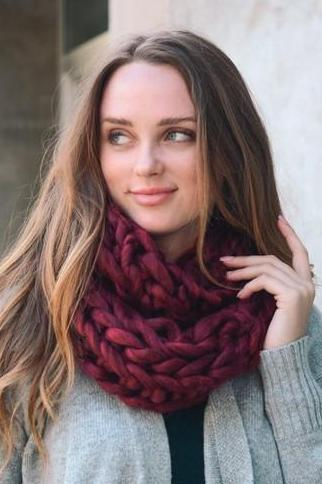 twist knit infinity scarf