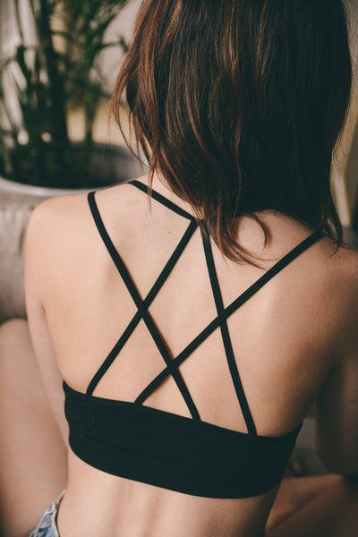 bralette with strappy detail