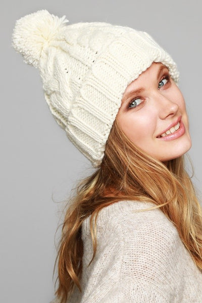 winter white beanie