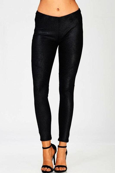 coated fleece lined legging