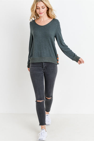 button side knit top