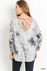 tie dye crisscross back top
