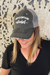 """May Contain Alcohol"" trucker hat"