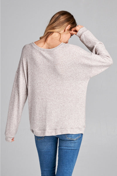 twist front marled top