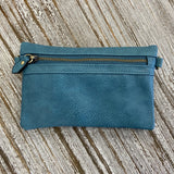 teal kate crossbody clutch