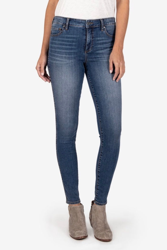 fab ab high rise skinny denim