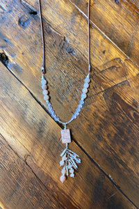 handmade leather chain necklace