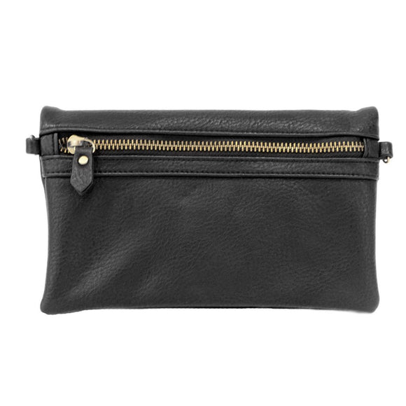 black kate crossbody clutch