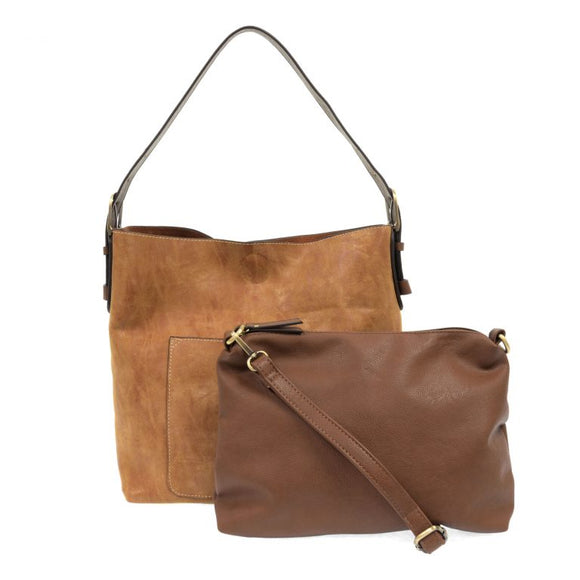 lux hobo handbag with bonus bag