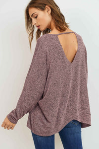 tulip back detail knit top