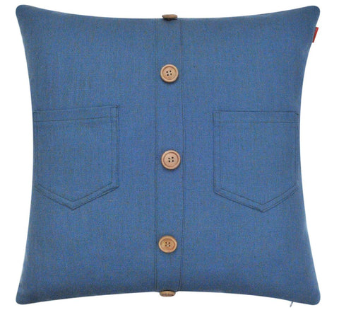 Solid Repurposed Shirt Linen Pillow Cover Design Decorative Cushion Cover - Lovely Home