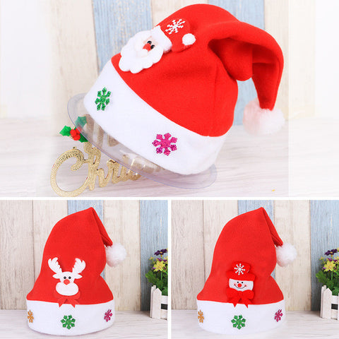 1PC Kids christmas decorations Santa Hats  new Year gifts - Kiddie Whimsy