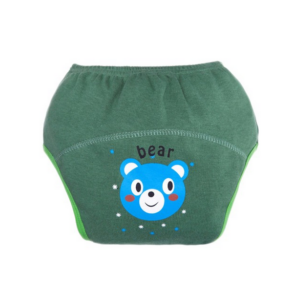 2 pcs Baby Training Pants Study Pants Reusable Nappy Cover Washable Diapers