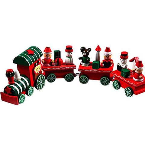 Christmas&New Year wooden train toy present for child free shipping