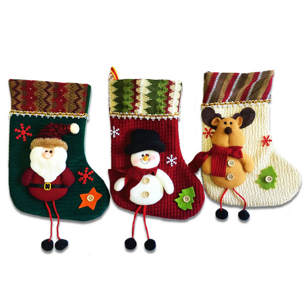 Christmas Festival Decoration Santa Gift Stockings Children Candy Gift Bag Christmas Tree Hanging Ornaments