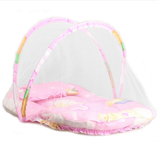 Portable Baby Cribs with Folding Mosquito Net - Lovely Home