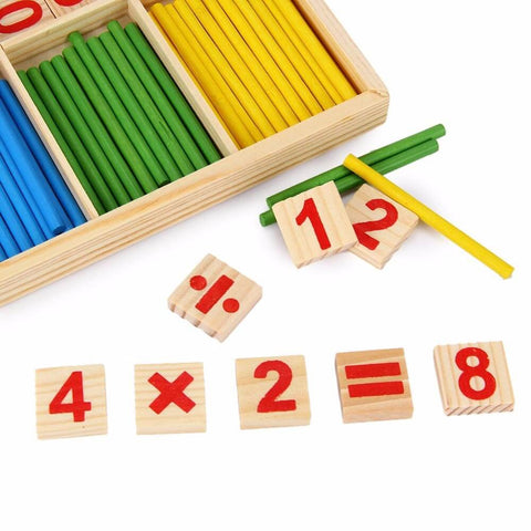 Children Wooden Counting Game Mathematics Toys - Kiddie Whimsy