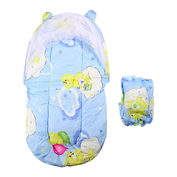 Folding Mosquito Net Baby Bed with Mattress & Pillow - Lovely Home