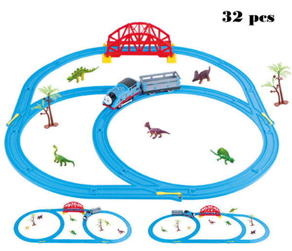 Trains Set With Rail Toys For Children Boys Kids Toys - Lovely Home