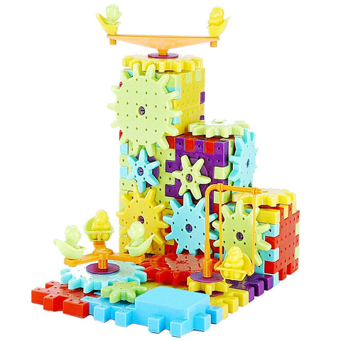 Children's Plastic Building Blocks Educational Toy - Kiddie Whimsy