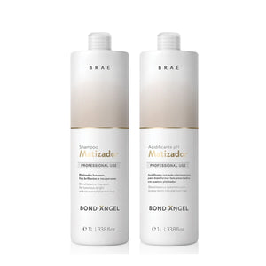 Bond Angel Toning Blonde Balance Shampoo and Acidificante pH Matizador Professional Set 33.8 fl.oz - BRAE USA Home Care Step 3