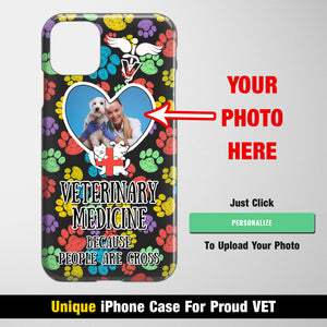 Because People Are Gross - Personalized iPhone Case