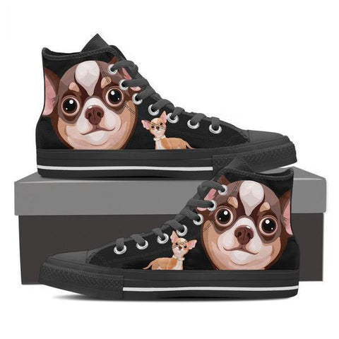 Chihuahua - Women's High Top Canvas Shoes