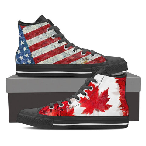 Image of American Canadian Women's High Top Canvas Shoes -  High Top Canvas Shoes - EZ9 STORE