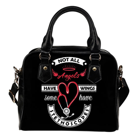 Image of Angels Have Stethoscopes Bag -  Shoulder Bag - EZ9 STORE